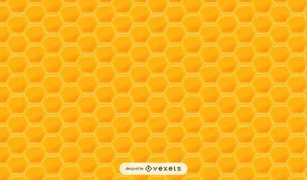 Patrón de miel hexagonal brillante