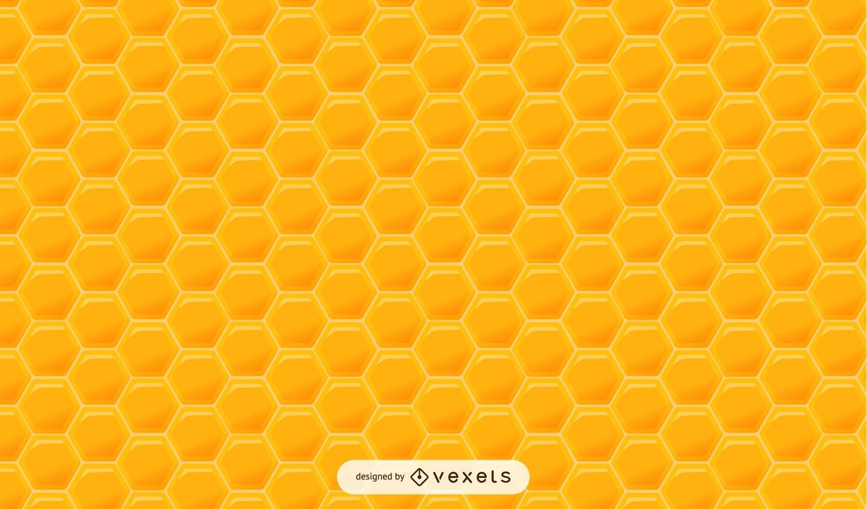 Glossy Hexagonal Honey Pattern