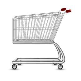 Carrinho de compras 3D realista