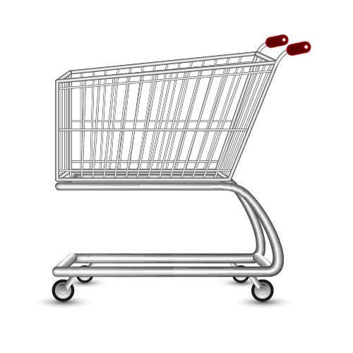 Realistic 3D Shopping Cart