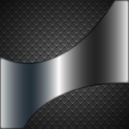 Fondo abstracto verificador metálico con sombra