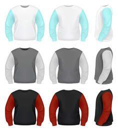 Realistische Pulloverpackvorlage
