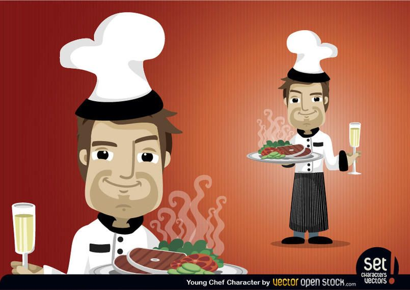 Young Chef Character Set