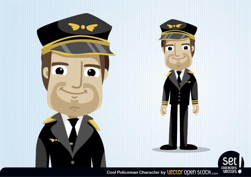 Pilot Cartoon Character