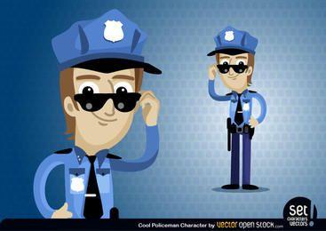 Personagem de desenho animado de policial
