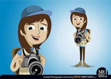Personaje de fotógrafo femenino