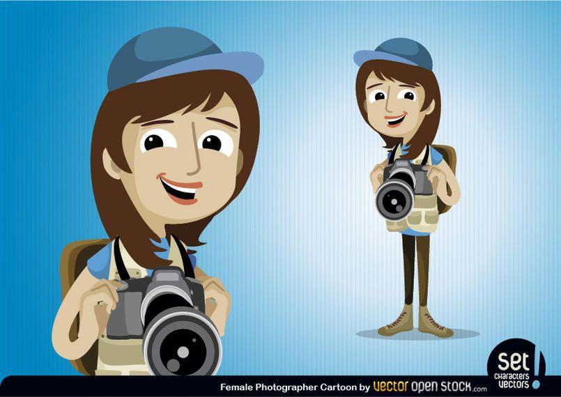 Personaje de mujer fotógrafo