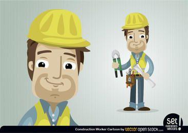 Personagem do trabalhador da construção