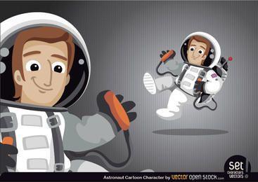Personaje de dibujos animados de astronauta