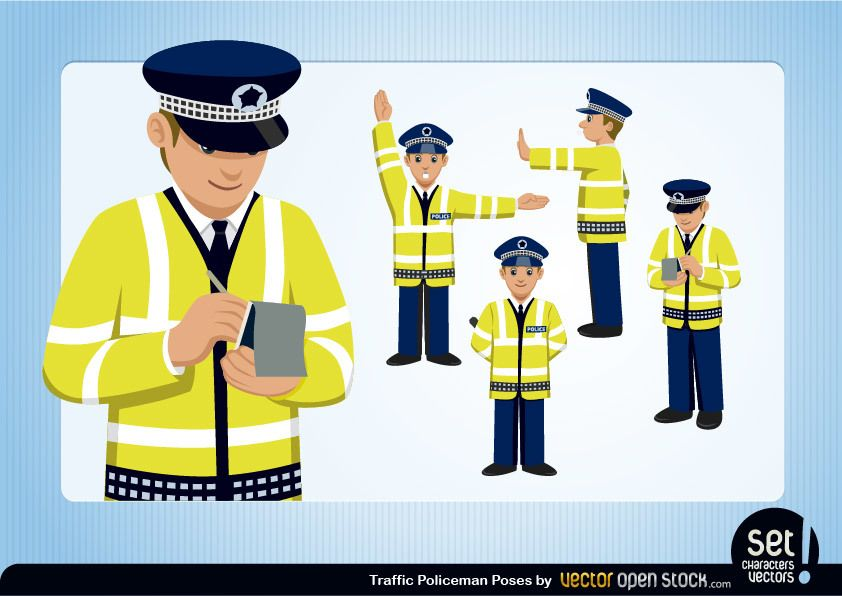 Policeman Vector Graphics to Download