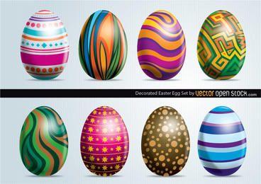 Conjunto de ovos de Páscoa