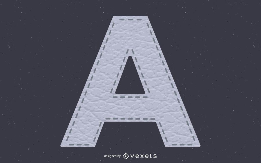 Leather Texture Stitched Alphabet