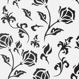Patrón de florecimiento plano sin costuras