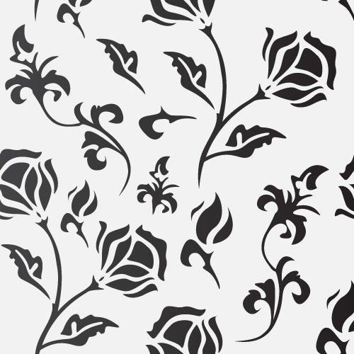 Flat Seamless Flourish Pattern
