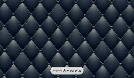 Cuero de tapicería negro realista
