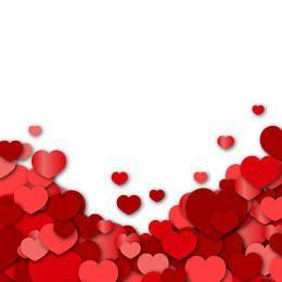 Fundo dos namorados com corações