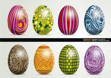 Belos ovos de páscoa artísticos