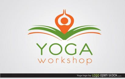 Modelo de logotipo de ioga
