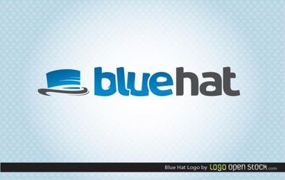 Logotipo de sombrero azul