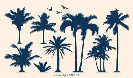 Siluetas de palmeras 3