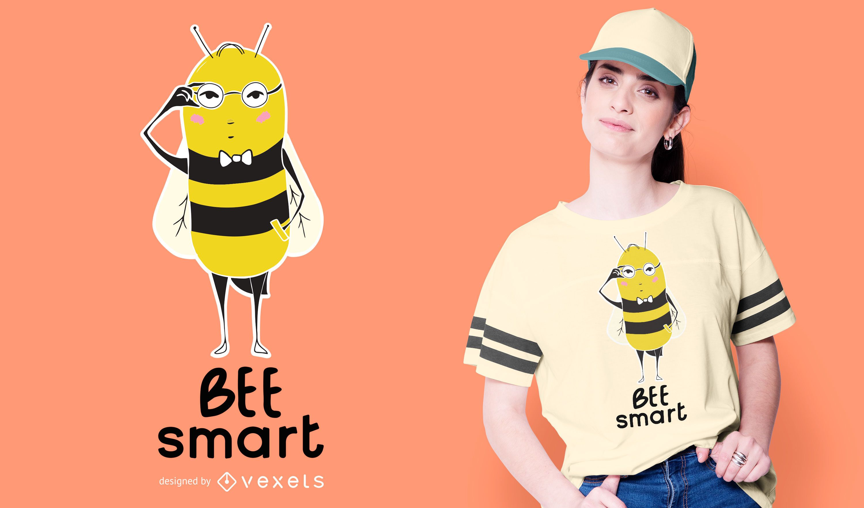 Diseño de camiseta de abeja inteligente