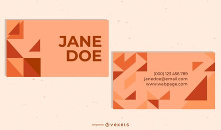 Abstract Front & Back Business Card Template