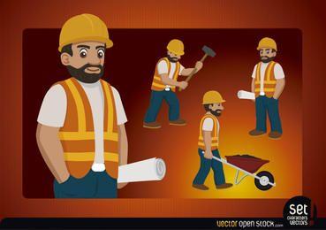 Bauarbeiter-Charakter