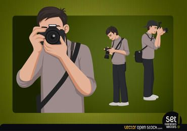 Fotógrafo jovem personagem