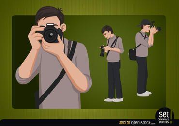 Fotógrafo joven personaje