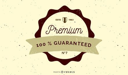 Vintage Rounded Guaranty Label