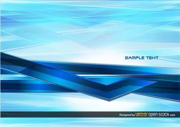 Tecnología abstracta fondo azul