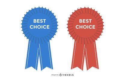Glossy Best Choice Badge com fita
