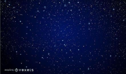 Funkelnder magischer blauer Mitternachtshintergrund
