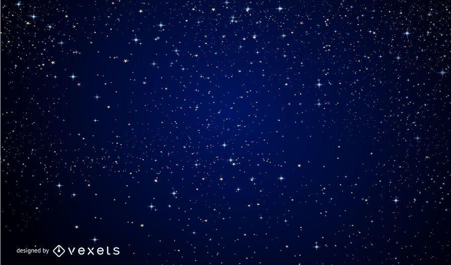 Sparkling Magic Blue Midnight Background