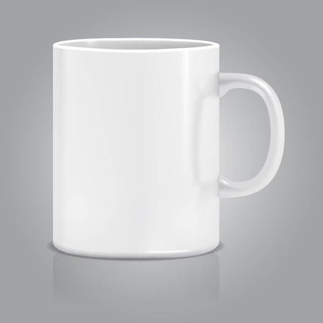 Realistischer weißer Pokal