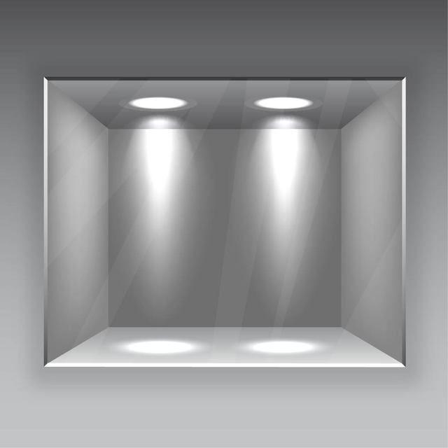 Galer?a interior con vidrio y luces