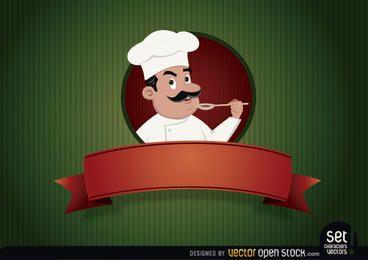 Logo del restaurante con chef