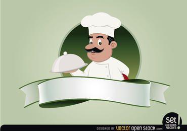 Emblema de restaurante con chef