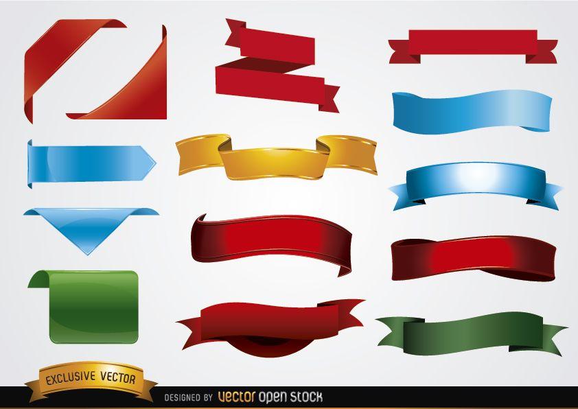 Formas de banner coloridas