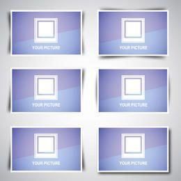 Pacote de caixa de imagem da Web com desenhos de sombra