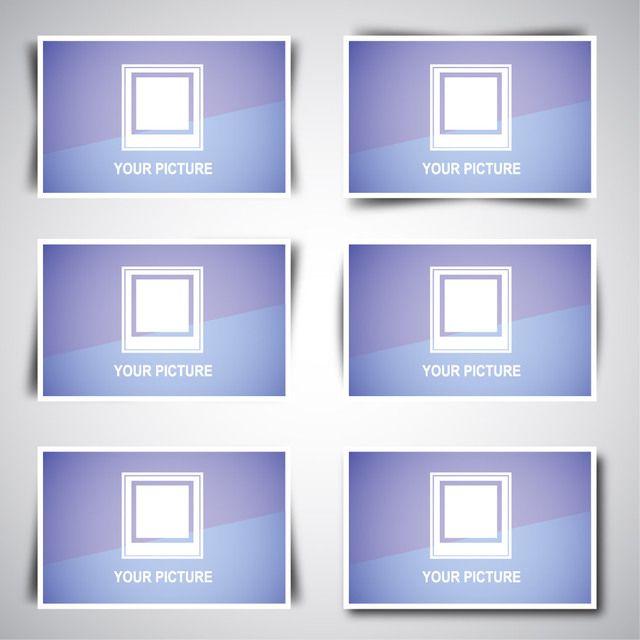 Paquete de cuadro de imagen web con diseños de sombra