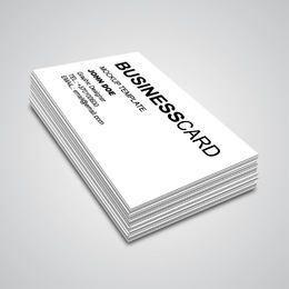 Maqueta de tarjeta de visita de ángulo de esquina 3D