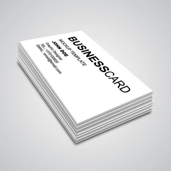 3d corner angle business card mockup - 3 D Business Card