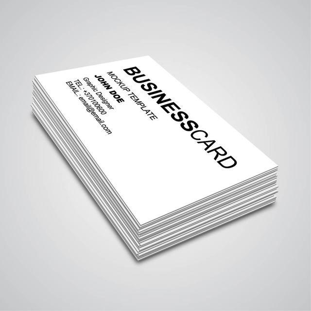 3D Corner Angle Business Card Mockup