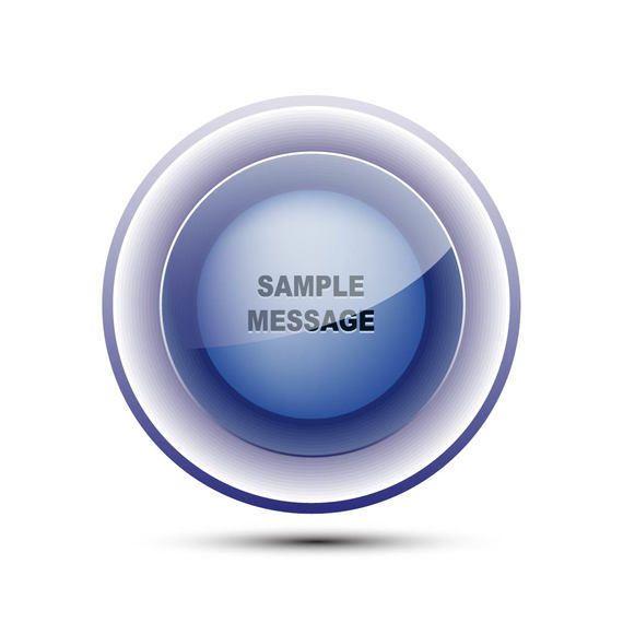 Blue Glassy Sphere Button