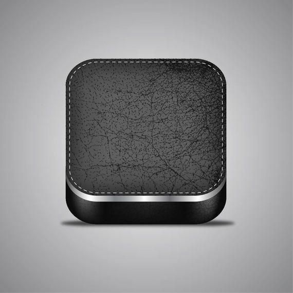 Stylish 3D Realistic Leather App Icon