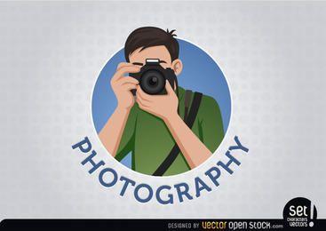 Fotógrafo logotipo