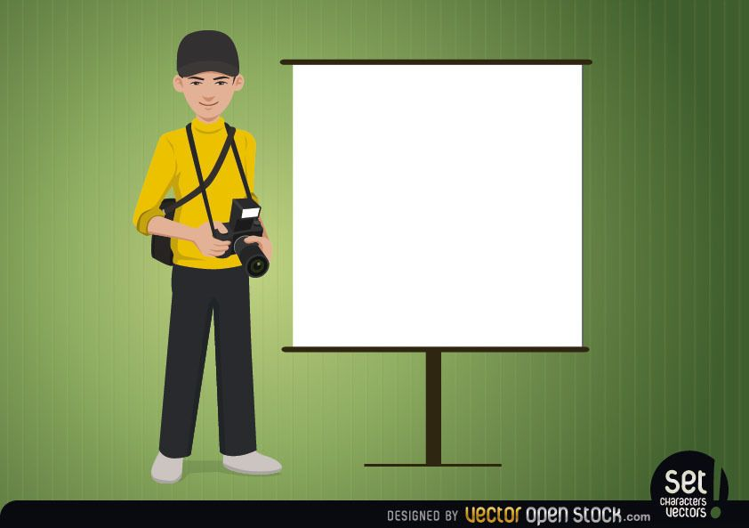 Photographer with a blank Screen