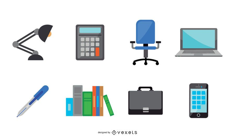 Plano 48 iconos de oficina, sociales y de viaje