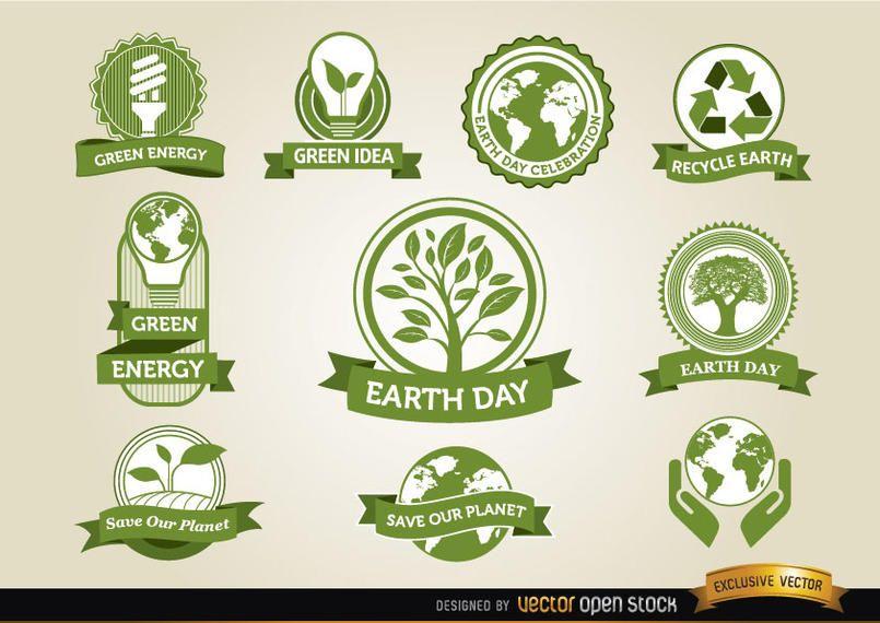 Tag der Erde Etiketten